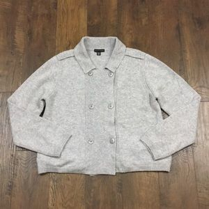 Saks Fifth Avenue gray cardigan double button